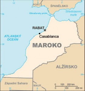 Casablanca map on Morocco