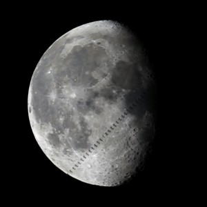 ISS before moon picture taken by Peter